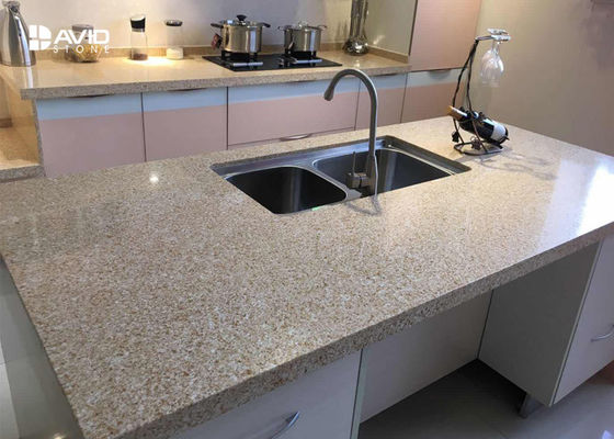China Berufsquarz-Fertigküche Countertops, Quarz-Badezimmer Worktops fournisseur