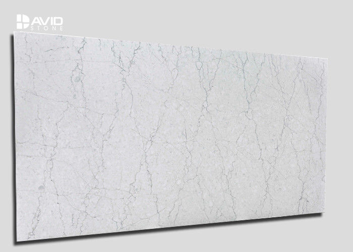 Professional Quartz Slab That Looks Like Calacatta Marble No Chromatic Aberration