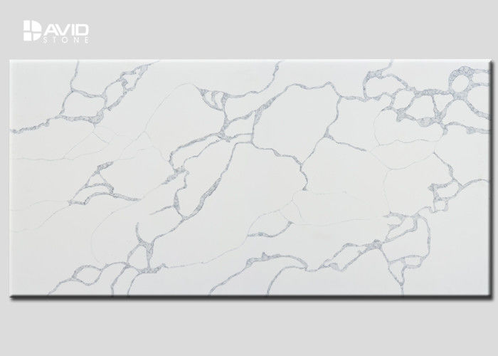 Custom High Hardness Artificial Quartz Slab Class A Crack Resistant
