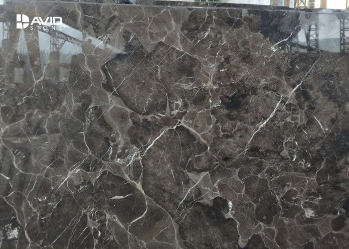 Dark Emperador Marble Stone Tile Glossy Polished Strong Wear Resistance