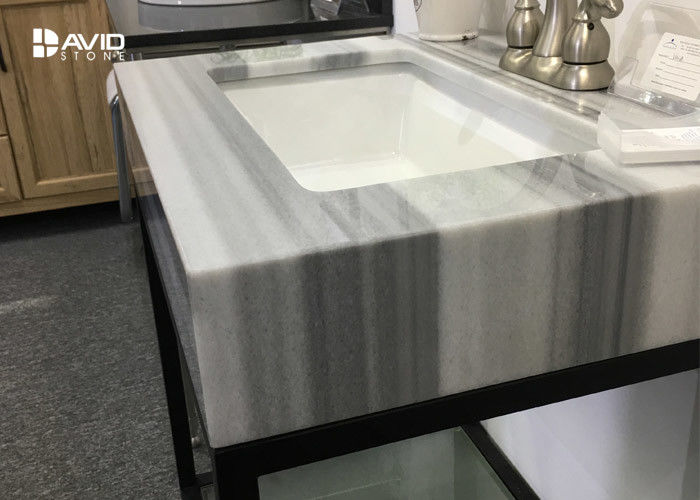 Turkey Marmaray White Marble Vanity Tops , Marble Kitchen Countertops